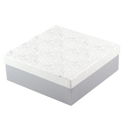 Коробка подарочная «Silver» 22 х 22 х 8 см