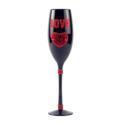 Бокал «I Love You» с одним сердцем 180 мл