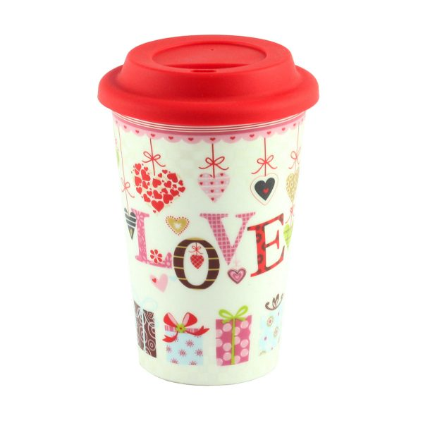 Термокружка «Mug to go love», фарфор