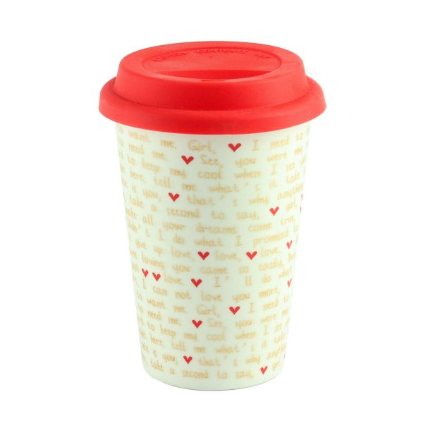Термокружка «Mug to go love», белая