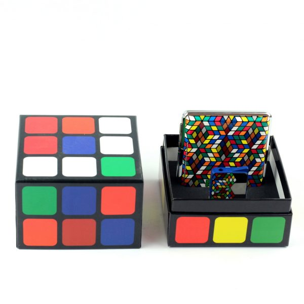 Комплект зажигалка + портсигар «Rubik»s»