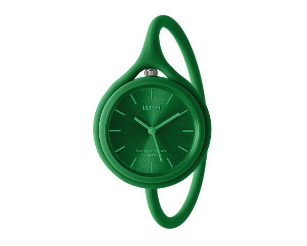 Часы универсальные Lexon Take Time с ремешком из силикона, зеленые