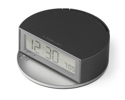 Французские часы Lexon Fine Twist с режимом повторения будильника, черные