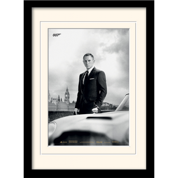 Постер в раме «James Bond (Skyfall)» 30 х 40 см