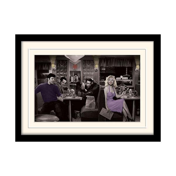 Постер в раме «Blue Plate Special (Chris Consani)» 30 x 40 см