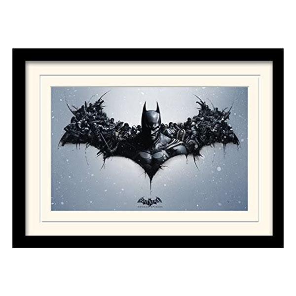 Постер в раме «Batman Arkham Origins (Logo)» 30 x 40 см