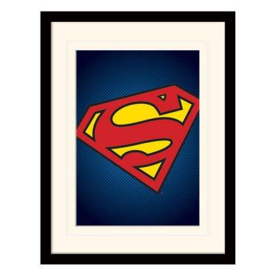 Постер в раме «DC Comics (Superman Symbol)» 30 x 40 см