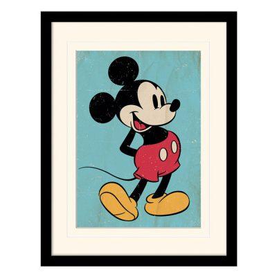 Постер в раме «Mickey Mouse (Retro)» 30 x 40 см