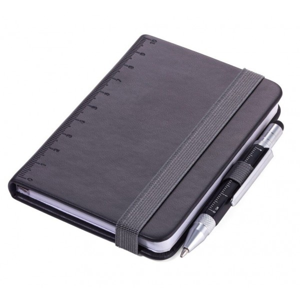 Блокнот Lilipad + ручка Liliput, черный