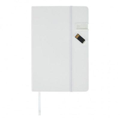 Блокнот со скрытым флеш-накопителем на 4GB, белый