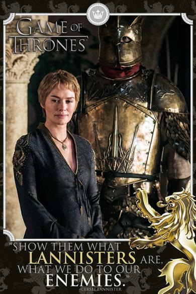 Постер «Game of Thrones (Cersei - Enemies) / Игра Престолов» 61 x 91,5 cм