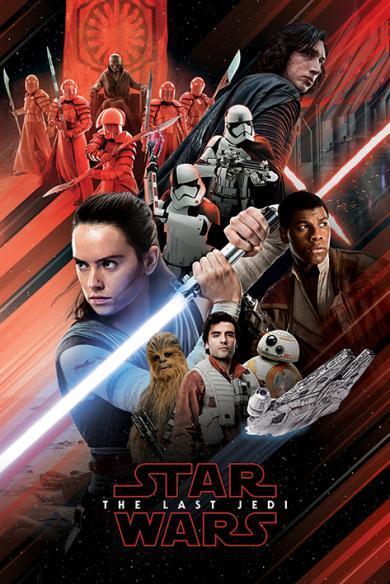 Постер Star Wars The Last Jedi (Red Montage) / Звёздные войны 61 x 91,5 cм
