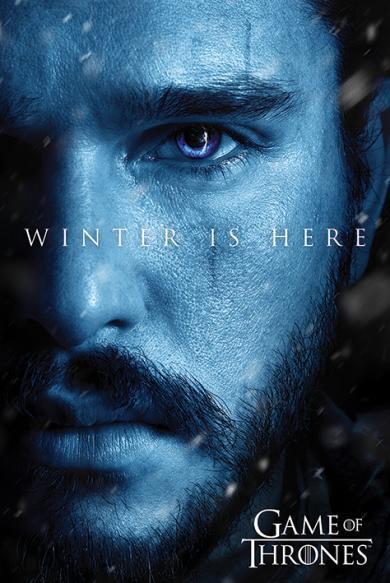 Постер «Game Of Thrones (Winter is Here - Jon) / Игра Престолов» 61 x 91,5 cм