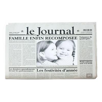 Коврик-фоторамка под посуду «Французские новости»