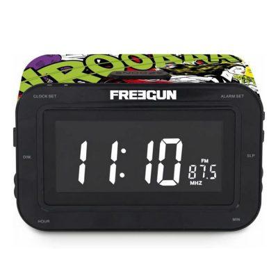 Радиоприемник с часами «Freegun» 16х10 см