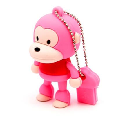 Флеш-накопитель «Обезьяна», розовый, 4Гб
