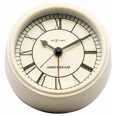 Часы настольные «Small Amsterdam Creme» ø11 см