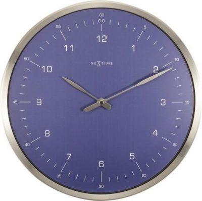 Часы настенные «60 Minutes», синие Ø33 см