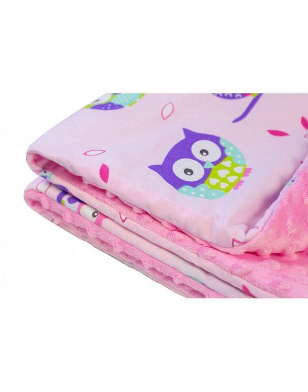 Плед детский плюшевый minky «Совы» Фиолетовый