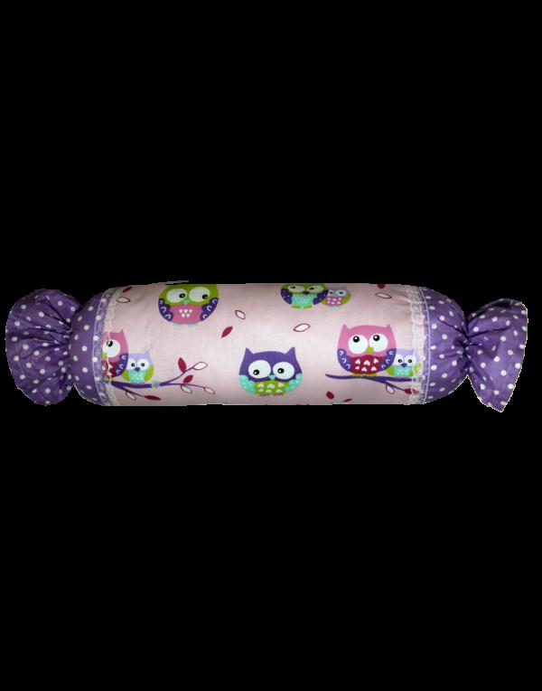 Подушка Хатка «Конфета» Фиолетовые Совы
