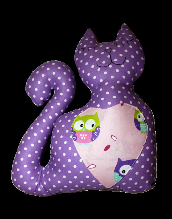 Подушка Хатка «Кот» Фиолетовый