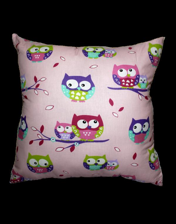 Подушка Хатка «Квадратная» Фиолетовые совы