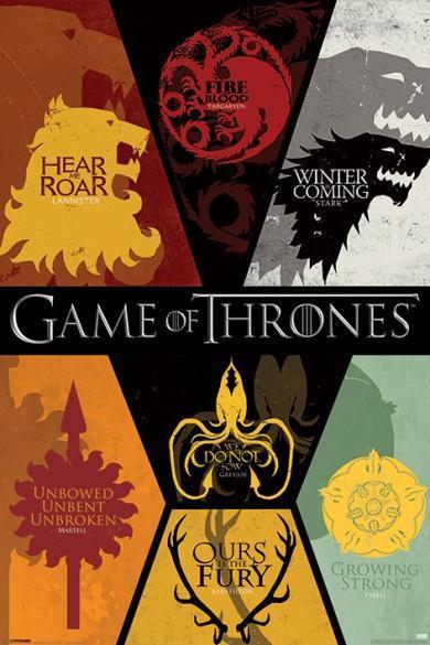 Постер «Game of Thrones (Sigils) / Игра Престолов» 61 x 91,5 cм