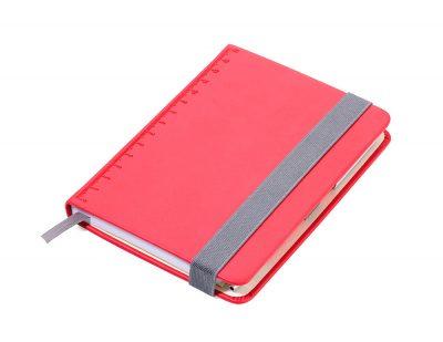 Блокнот с шариковой ручкой Troika Slim красный