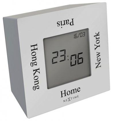 Часы настольные «Turn4time», белые 7,4х7,4 см