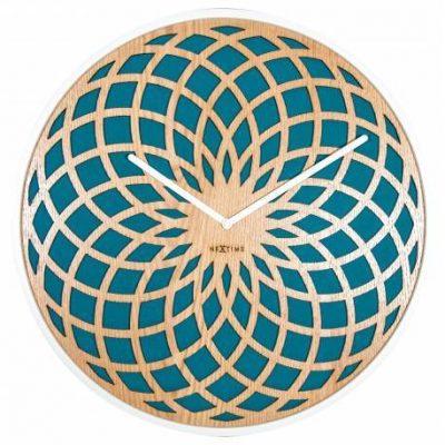 Часы настенные «Sun Large Turquoise» Ø50 см