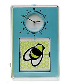 Часы настенные «Flip», голубые 15х23 см
