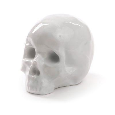 Статуэтка фарфоровая «Череп» белый