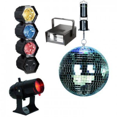 Набор для шоу: шар, подсветка, прожектор