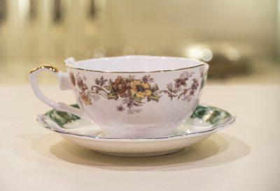 Кофейная чашка с блюдцем «Hybpid» фарфоровая