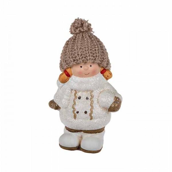 """Новогодние статуэтки """"Девочка в шапке с косичками"""", 10 х 15 см"""
