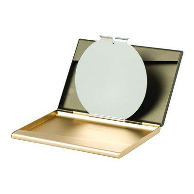 Визитница с зеркалом Lexon FINE золотистый