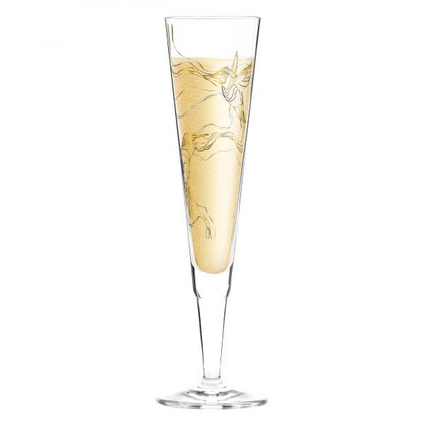 "Бокал для шампанского ""Колибри"" от Marvin Benzoni, 205 мл"