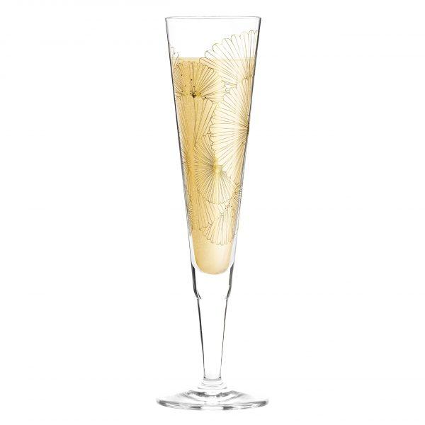 "Бокал для шампанского ""Golden Fans"" от Lenka Kühnertová, 205 мл"