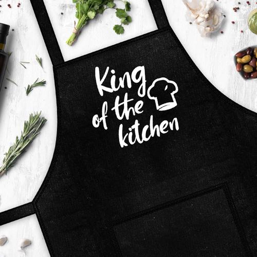 Фартук с надписью «King of the kitchen» (Король кухни)
