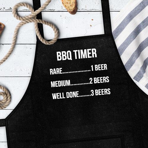 Фартук с надписью «BBQ TIMER»