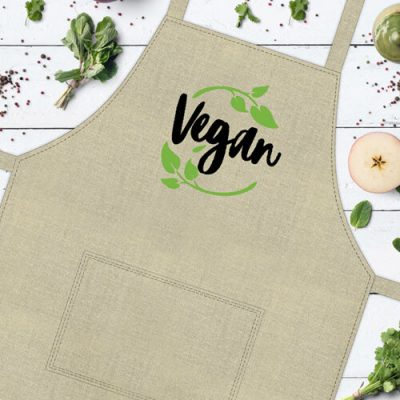 Фартук с надписью «Vegan»