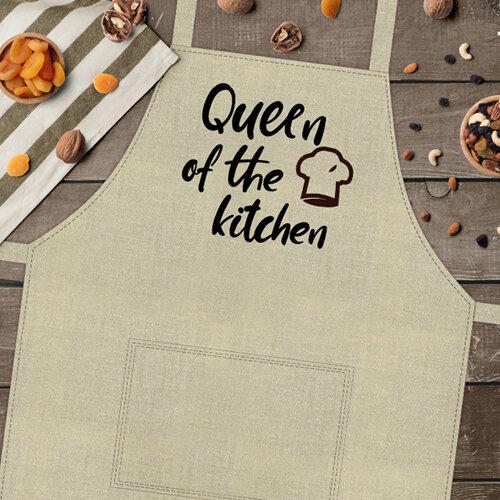 Фартук с приколом «Queen of the kitchen» (Королева кухни)