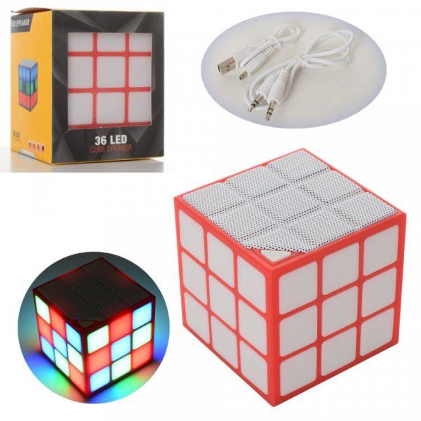 Беспроводная колонка «Кубик»  со световыми эффектами