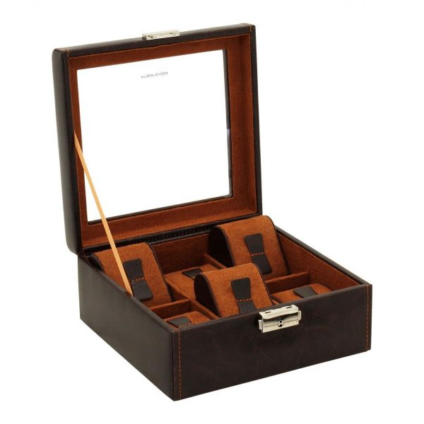 Шкатулка для часов «Bond» на 6 часов, коричневая