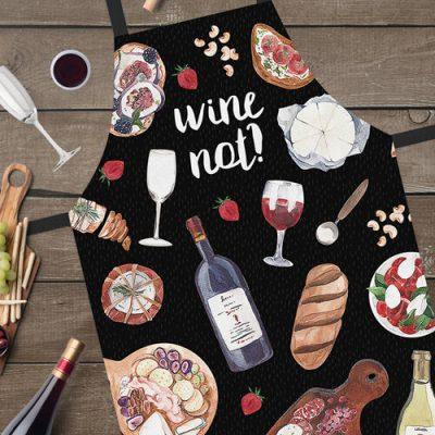 Фартук полноцветный Сolorful  «Wine not?»