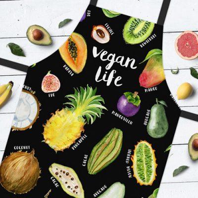 Фартук полноцветный Сolorful  «Vegan life»