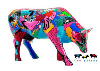 Коллекционная статуэтка корова «Partying with P-COW-sso», Size L