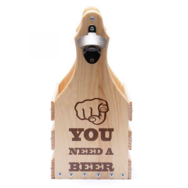 Подарочный ящик для пива «You Need A Beer» на 6 бутылок по 0,5л.