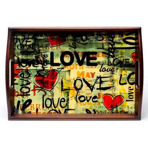 Поднос на подушке «Весенняя любовь», 48*33 см