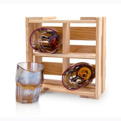 Набор пьяных стаканов «Виски ультрамарин»
